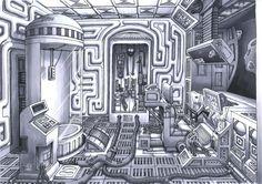 spaceship interior design