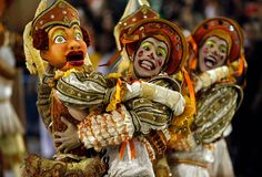 Performers from the Salgueiro samba school parade during Carnival at the Sambadrome in Rio de Janeiro on February 21, 2012. (Victor R. Caivano/Associated Press)