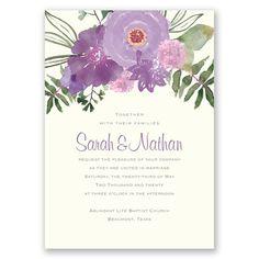 Flourish of Romance - Seal and Send Invitation - Inexpensive, Romantic at Invitations By David's Bridal
