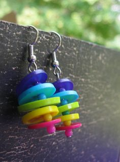 Cute button earrings on etsy. Check it out. My friend made them!