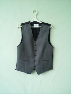 Vintage Mens Vest Wool Formal Gentlemen's Fitted Waistcoat Edwardian Victorian Renaissance Steampunk by TinutesCreations on Etsy
