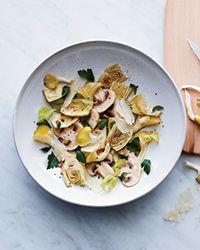 Shaved Baby Artichoke and Marinated Mushroom Salad | Food & Wine