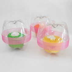 Recycled Plastic Bottle Cupcake Holders
