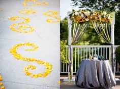 Yellow Wedding Inspiration: Shannon and Brian  by Kio Kreations