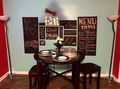 Kitchen Chalkboard, Diy Apartment Decor, New Kitchen, Dining, Instagram Posts, Wall, Artwork, Home, Food