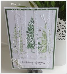 Woodland Embossing Folder, Sheltering Tree, Lovely As a Tree, Stampin'Up!