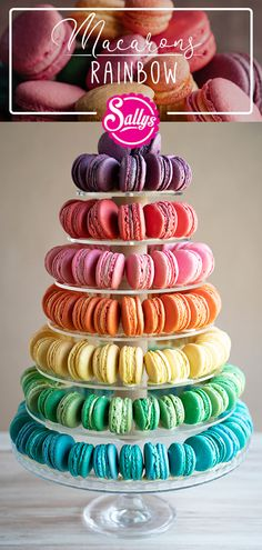 Sally's new recipe for brightly colored macarons, suitable for draping. The flavors range from fruity fresh lemon and lime to the orange-red nuances of cherry, raspberry, mango passion fruit, blue Fruit Rose, Macaron Flavors, Gluten Free Donuts, Macaroon Recipes, Blueberry Recipes, Blueberry Cake, Perfect Cookie, Mini Cupcakes, Mini Donuts