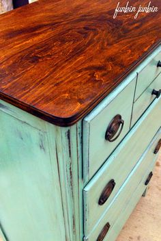 Funkin Junkin: Antique Chest of Drawers Makeover