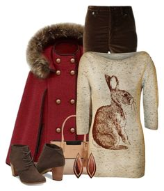 """""""Bunny Shirt & Cape"""" by majezy ❤ liked on Polyvore featuring Isabel Marant, Calvin Klein, WearAll and Mark Davis"""