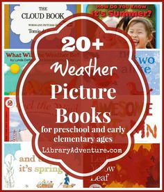 BIG List of Weather Books for Kids - for preschool and early elementary ages from LibraryAdventure.com