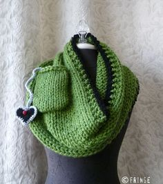 iPod pouch attached to Infinity Scarf. $98.00