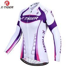 X-Tiger Brand Kaitlyn Long Sleeve Women Cycling Jersey Top Quality Autumn MTB Bike Wear Cycling Clothing Ropa De Ciclismo