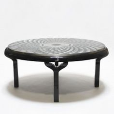 CHURCH Table round pattern in silverleaf, silver leaf S27 and lacquer ware.  #Cravt #DKhome #Craftsmanship #Living #Diningtables #furniture #Silverleaf #Lacquer #Luxuryfurniture