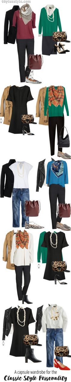 A capsule wardrobe for the classic style personality 40plusstyle.com