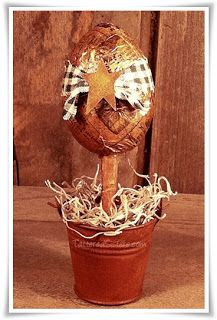 Primitive Easter Egg Topiary