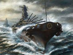 Kashi takahisa ships cruiser battleship art military wallpaper   1920x1456   210394   WallpaperUP