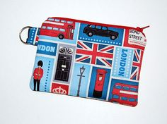 London Blocks  - Small Zipper Pouch / Cell Phone Gadget Holder. $6.50, via Etsy. THIS ETSY SELLER DOES WELL