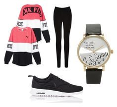 """Love pink"" by brieatddancer on Polyvore featuring Victoria's Secret, Oasis, NIKE and Forever 21"