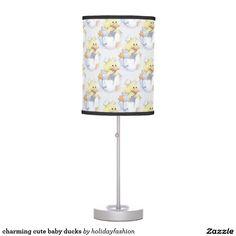 charming cute baby ducks table lamp