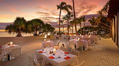 The Brando Dining at Sunset. Photo courtesy of The Brando on Tetiaroa Private Island
