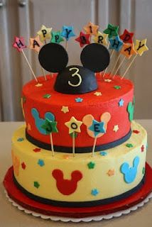 Sweetness.....Adventures in Cakes: Mickey Mouse - Gabe's 2nd birthday?