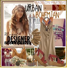 """""""Urban Bohemian with Madison Harding"""" by fashiontake-out on Polyvore"""