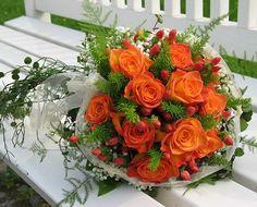 Orange Rose Bouquet idea #1