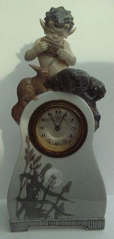 FABULOUS Royal Copenhagen Faun Clock