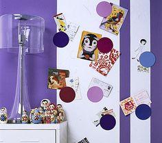 Magnetwand mit Kreisen - Selber machen: Pinnwand - [LIVING AT HOME]