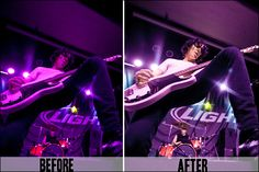 Color Correction for Concert Photography
