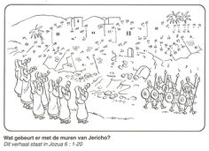de muren van Jericho van stip naar stip