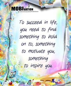 Find your rock, your motivation that works for you :-)  LIKE, COMMENT & SHARE a little MOBIvation *** <3 http://www.3step-great-life.com/ <3 ***