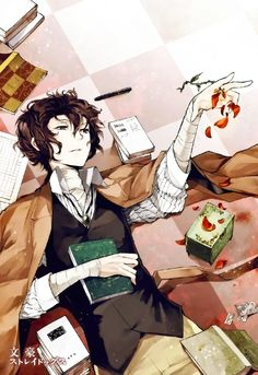 Dazai Osamu, Bungou Stray Dogs - he's a very interesting character Manga Anime, Fanart Manga, Manga Boy, Anime Guys, Anime Art, Dazai Bungou Stray Dogs, Stray Dogs Anime, Mystery, Card Captor