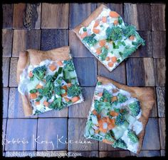 Bobbis Kozy Kitchen: Ranch Veggie Appetizer Pizza