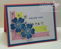 Debbie's Designs: Stampin Up Washi Tape & Morning Meadow stamp set Love the mitred corners