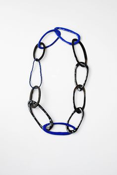 Daniela (Danni) Schwaag - necklace - 2010 - enamel on copper, lapis-lazuli