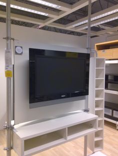 Stolmen flat panel mount. If still selling would be perfect wall partition