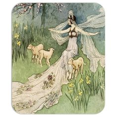 Vintage Fairy Tale Mousepad