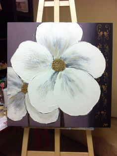 Textura abstracta contemporánea Floral Arcrylic pintura