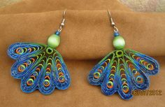 beautiful colors... quilled earrings