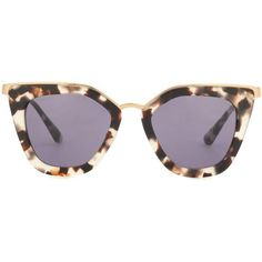 Prada Cat-Eye Sunglasses (7.046.945 VND) ❤ liked on Polyvore featuring accessories, eyewear, sunglasses, brown, prada, prada sunglasses, cat eye sunnies, cat eye glasses and cat-eye glasses