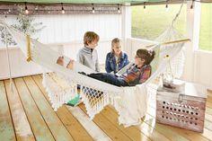 Feast Your Eyes On the Cutest DIY Backyard Playhouse You've Ever Seencountryliving #kidsplayhouse #gardenplayhouse