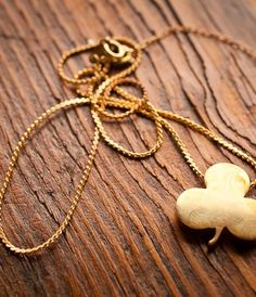 Brass Clover Necklace