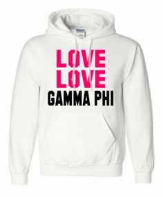 Gamma Phi Beta Love Love Hooded Sweatshirt