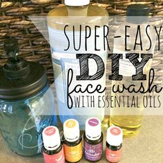 Anti-Aging Remedies Tired of breakouts? Try this super easy diy face wash with essential oils! - Are you tired of spending money on face soap just to have it not work? Try this super-easy DIY face wash. You can even customize it to your skin! Essential Oils For Face, Ginger Essential Oil, Essential Oil Uses, Young Living Essential Oils, Melrose Essential Oil, Pure Essential, Homemade Face Cleanser, Facial Cleanser, Homemade Moisturizer