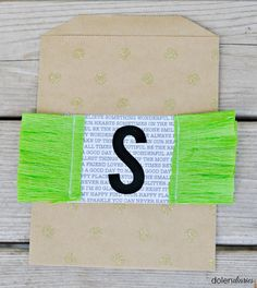 Ruffled Monogram Treat Bag! Such a cute party favor gift idea!