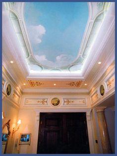Роспись потолка в холле