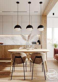 Kitchen Room Design, Modern Kitchen Design, Home Decor Kitchen, Interior Design Kitchen, Kitchen Furniture, Home Kitchens, Cuisines Design, Apartment Interior, Home Decor Inspiration