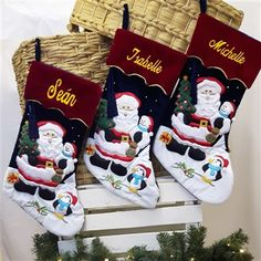 Personalised Christmas Stocking. Velvet Stocking with Snowman and Tassel. Beautifully embroidered for just you. Order online WowWee.ie | €24.99