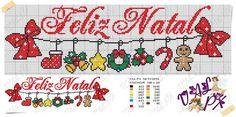Χειροτεχνήματα: Κεντητές ευχές για τα Χριστούγεννα / Cross stitch Merry Christmas wishes